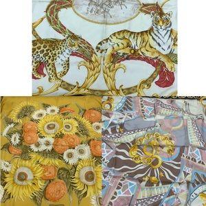 Bundle ❇️designer brands 100% silk scarves
